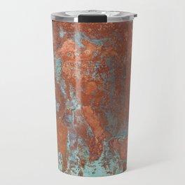 Tarnished Metal Copper Texture - Natural Marbling Industrial Art Travel Mug