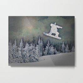 The Snowboarder Metal Print