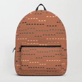 Half Circles on Rust Backpack