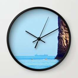 Man and Perce Rock Panoramic Wall Clock