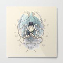 Classy Victorian Squid Metal Print