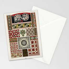 Middle-Ages pattern from L'ornement Polychrome (1888) by Albert Racinet (1825–1893).4 Stationery Cards