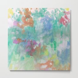 my sweet watercolor abstract garden Metal Print