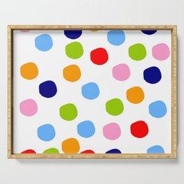 Wild polka dot 53 - multicolor Serving Tray