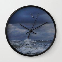 Blue wave Wall Clock
