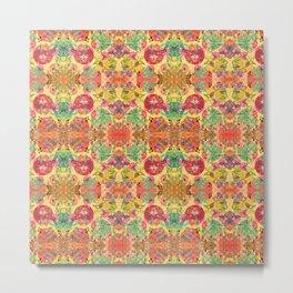 Chintz kaleidoscope Metal Print