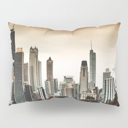 chicago skyline at dusk Pillow Sham