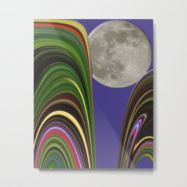 Agate Moon Metal Print