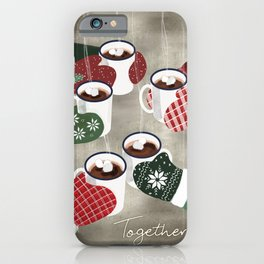 Hot cocoa toast in silver iPhone Case