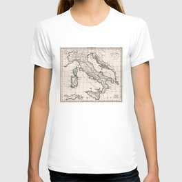 Vintage Map of Italy (1825) T-shirt