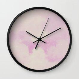 Pastel Cloulds Sky Seamless Nebula 170 Wall Clock