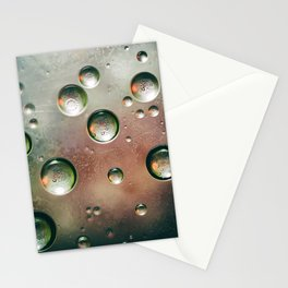 Organic Silver Oil Bubble Abstract Stationery Cards