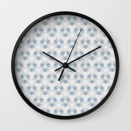 Washed Blue Waves  Wall Clock