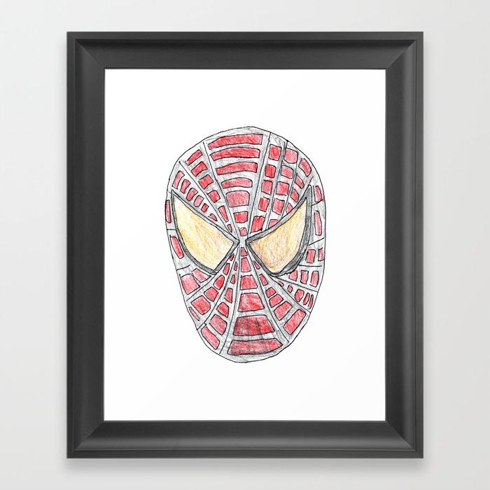 Spider Man Framed Art Print by Littlekingdom FRM8111642