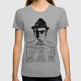 Jake Blues Brothers tattooed 'Four Fried Chickens' T-shirt
