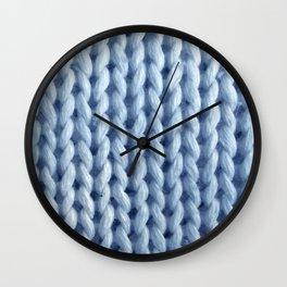 knitwit: baby blue Wall Clock