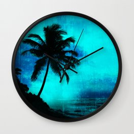 Tropical scene Wall Clock