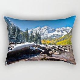 Maroon Bells in Aspen, Colorado Rectangular Pillow