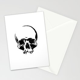 Black & White Simple Skull Stationery Cards