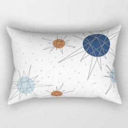Atomic Stars Blue & Orange Rectangular Pillow