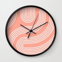 Curves - Pink Wall Clock