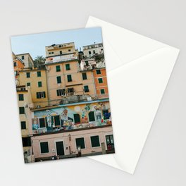 Cinque Terre, pastel dream houses | Mediterranean Coast, Italy | Colorful travel photography in Europe | Horizontal art print Stationery Cards