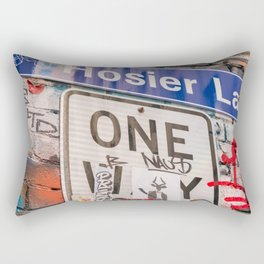 Hosier Lane Street Graffiti Melbourne Printable Wall Art | Australia Urban City Photography Print Rectangular Pillow