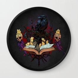 Fantasy Emblem - Warlock Wall Clock