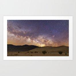 Dunes under the Milky Way Art Print