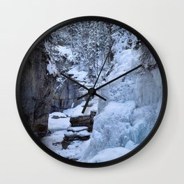 Ice Canyon in Canada Wall Clock