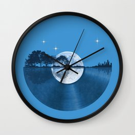 Nature Guitar Record Wall Clock