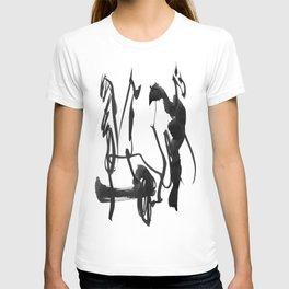 black on white 6 T-shirt