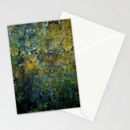 Grunge damask Stationery Cards