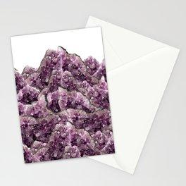 Amethyst Landscape - Gemstone - Geodes Crystals Stationery Cards