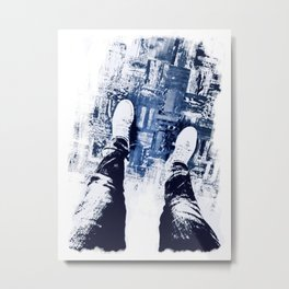 On Thin Ice Metal Print