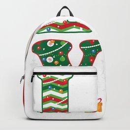 Funny Kids Girls Love Volleyball Christmas Ball Santa Hat Backpack