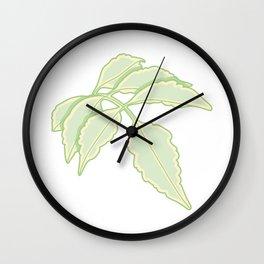 Serrated Edge Leaflet Illustration Wall Clock