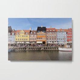 Nyhavn Canal, Copenhagen Metal Print