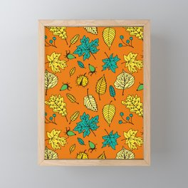 Colorful autumn pattern Framed Mini Art Print