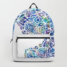 Mandala Little Mermaid Ocean Blue Backpack
