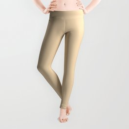 Light Straw Warm Neutral Solid Color Leggings
