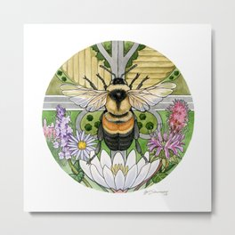 On the Brink: Rusty Patched Bumblebee Metal Print