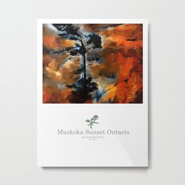 Muskoka Sunset,   Metal Print