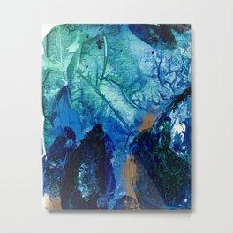 Sea Leaves, Tiny World Collection Metal Print