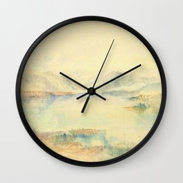 "J. M. W. Turner ""Lake Lucerne, with the Rigi"" Wall Clock"