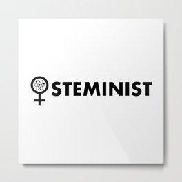 Steminist with symbol Metal Print