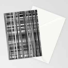 Black and White Abstract Stripe Design 707 Stationery Cards