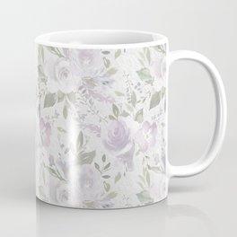 Mauve green lavender blush watercolor boho floral Coffee Mug
