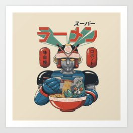 Super Ramen Bot Kunstdrucke