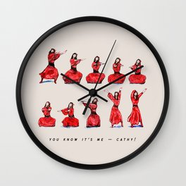 Kate Bush ~ Wuthering Heights Dance Wall Clock